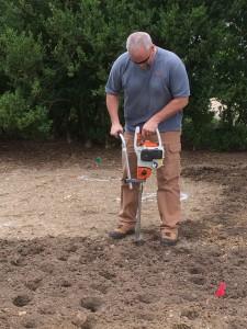 Prepping the children's program planting.