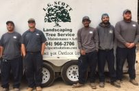 L.G. Scott crew in front of hardscape